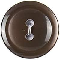 """Dark Brown 2-Hole 3/4"""" 5/Pkg - Slimline Buttons Series 1"""