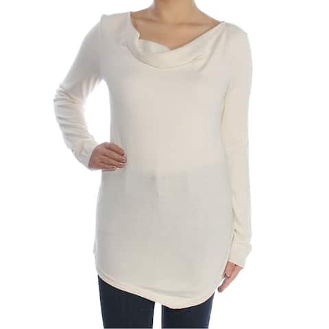 RALPH LAUREN Womens Ivory Long Sleeve Jewel Neck Tunic Top Size XL