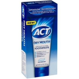 Act Dry Mouth Anticavity Fluoride Toothpaste, 4.6 oz