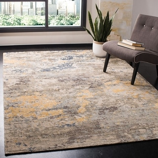 Safavieh Couture Hand-knotted Tiffany Jatta Modern Abstract Viscose Rug