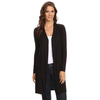 Women's Long Sleeve Open Front Cardigan Small to 3XL Made in USA