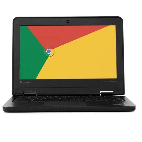 "Lenovo ThinkPad 11e Chromebook 11"" 4GB RAM 16GB SSD WiFi Grade B. Opens flyout."