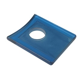 Replacement Waterfall Faucet Square Glass Plate Disc Blue