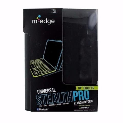 M-Edge Folio Pro Universal SM Bluetooth Keyboard for Most 10 inch Tablets Black