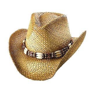 Outback Tea Stained Straw Hat-Shade Off Tea Stain - Natural Brown