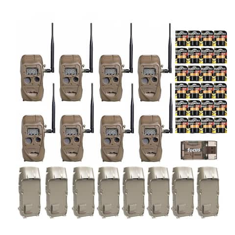 Cuddeback CuddeLink Trail Camera with Adapter (8-Pack) and Batteries