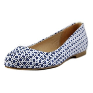 Nina Peppy-L Women Round Toe Suede Blue Flats