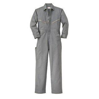 Walls Fr-Industries Mens Grey 42 X-Tall Long Sleeve Twill Work Coverall