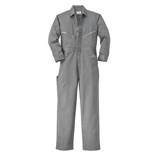 Walls Fr-Industries Mens Grey 50 Regular Long Sleeve Twill Work Coverall