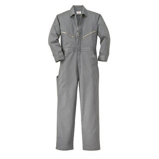 Walls Fr-Industries Mens Grey 56 Tall Long Sleeve Twill Work Coverall