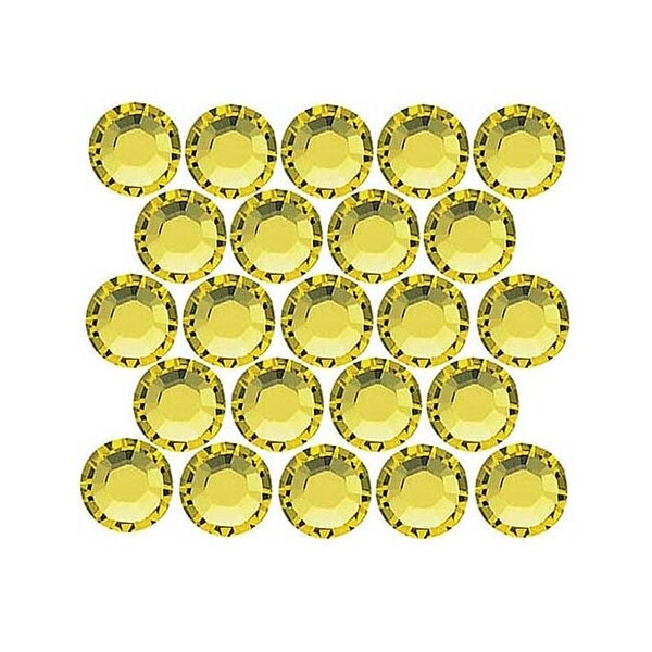 Swarovski Elements Crystal, Round Flatback Rhinestone Hotfix SS12 3mm, 50 Pieces, Citrine