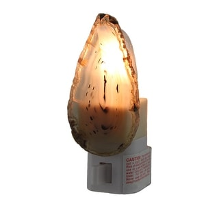 Natural Crystal Polished Brazilian Agate Night Light Nite Lite - brown