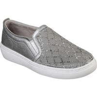 Skechers Women's Goldie Diamond Darling Slip-On Sneaker Silver