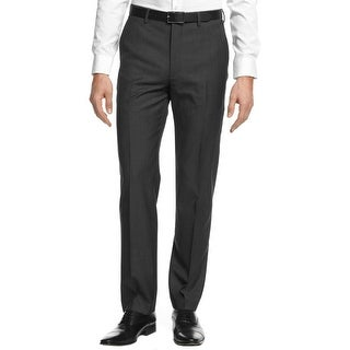 DKNY Mens Dress Pants Wool Flat Front
