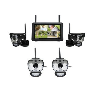 """Uniden UDR780HD plus ULC58-2 7"""" HD Weatherproof Wireless Security Camera System w/ Motion Detection"""