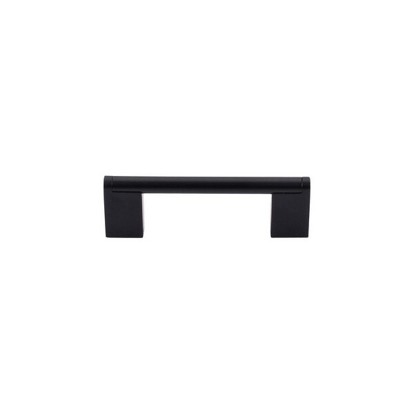 "Top Knobs M1055 Princetonian 3-3/4"" Center to Center Handle Cabinet Pull from the Bar Pulls Series - Flat Black - n/a"