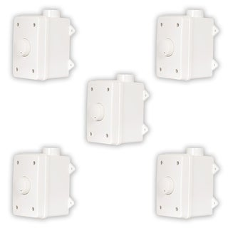 Acoustic Audio AAOVCD-W Outdoor Speaker White Volume Controls 5 Pack AAOVCD-W-5S