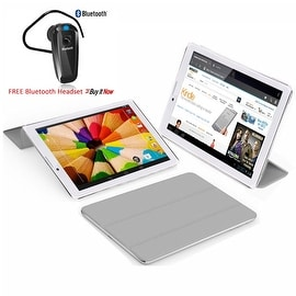Indigi® Unlocked 3G 7.0inch HD DualSim SmartPhone & TabletPC w/ Built-in SmartCover (Grey)+ Bluetooth Included