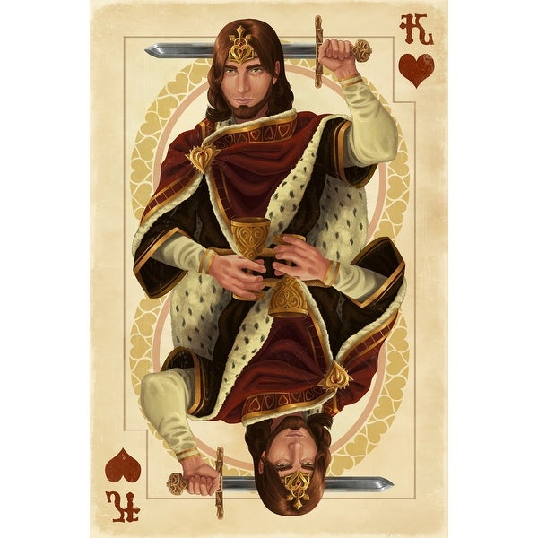 King of Hearts - Playing Card - LP Artwork (Poker Playing Cards Deck)