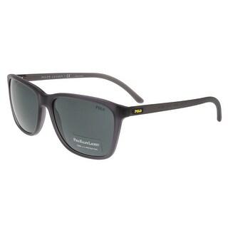 Ralph Lauren PH4108 532087 Gray Rectangle Sunglasses