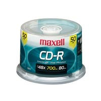 Maxell CD-R, 700mb, 48x, 80 min, Branded, 50pk Spindle