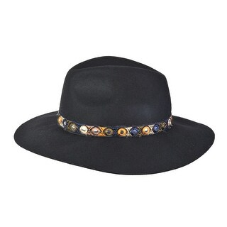 Top Headwear Wide Brim Sun Hat w/ Tribal Band