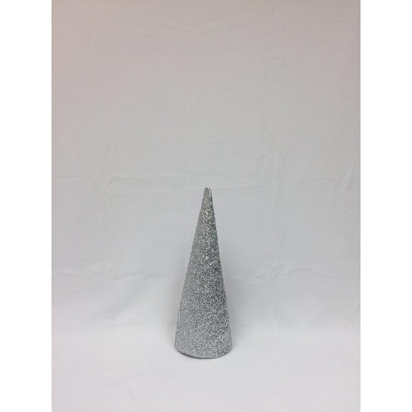 "15"" Silver Inflatable Christmas Tree Shaped Ornament"