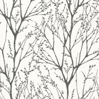 Brewster 2532-20424 Delamere Black Tree Branches Wallpaper