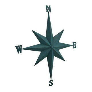 Weathered Finish Compass Rose Decorative Metal Wall Hanging (3 options available)