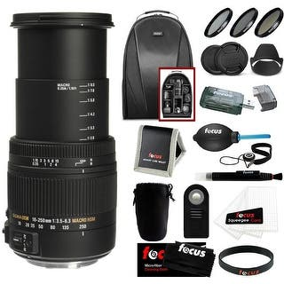Sigma 18-250mm f/3.5-6.3 DC OS HSM Macro Lens for Nikon F Mount Bundle - Black|https://ak1.ostkcdn.com/images/products/is/images/direct/9e2f2288f80c0967735972448352d3bfe57b1376/Sigma-18-250mm-f-3.5-6.3-DC-OS-HSM-Macro-Lens-for-Nikon-F-Mount-Bundle.jpg?impolicy=medium