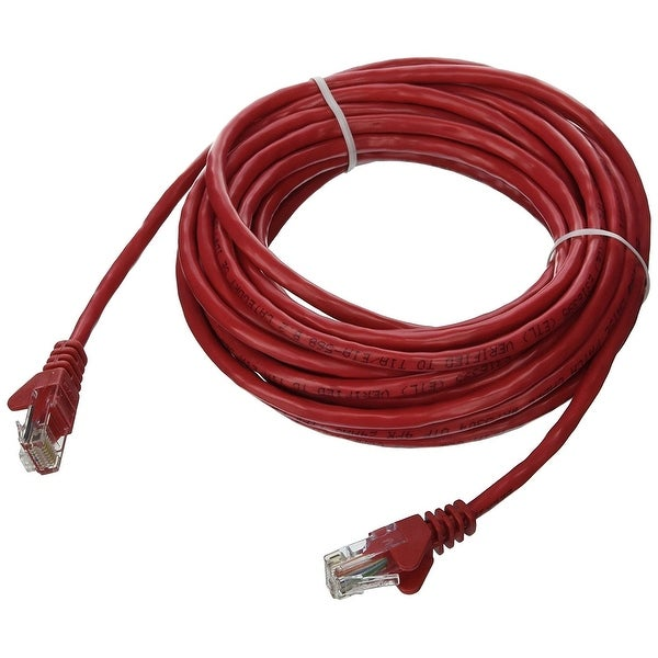 Belkin Components - 20Ft Cat5e Snagless Patch Cable, Utp, Red Pvc Jacket, 24Awg, T568b, 50 Micron, G