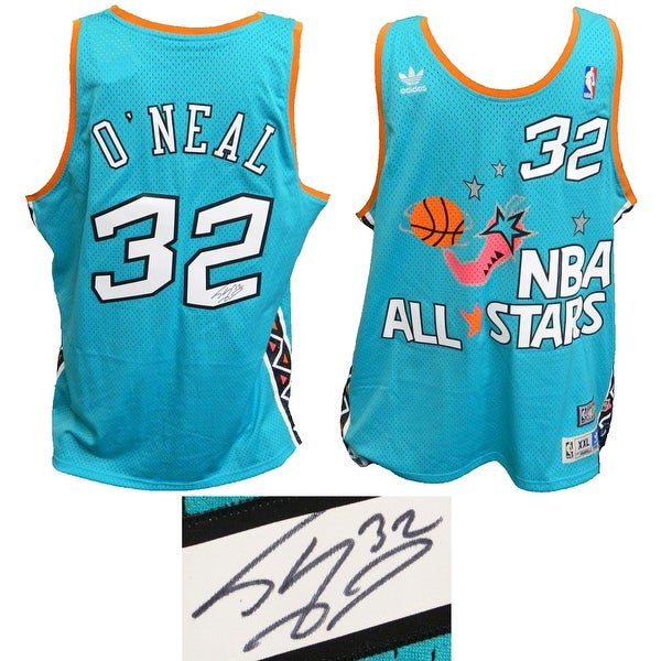 Shaquille ONeal 1996 All Star Game Teal Official Adidas Throwback Swingman  Jersey f5c7ccf62