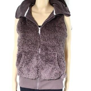 Kensie NEW Purple Womens Size Medium M Vest Full-Zip Hooded Jacket