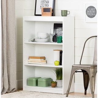 Link to South Shore Pure White Axess 3-shelf Bookcase Similar Items in Bookshelves