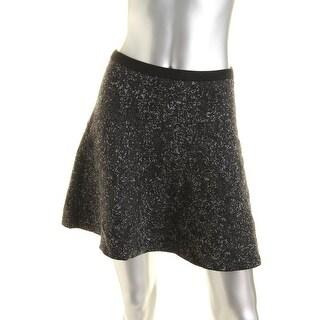 Theory Womens Lotamee B Wool Pattern A-Line Skirt - S