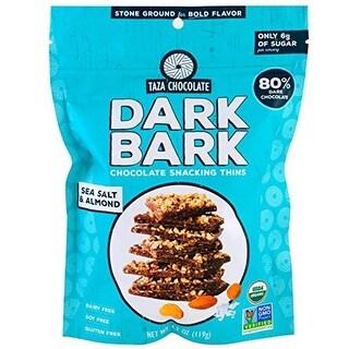 4.2 oz Sea Salt Almond Organic Dark Bark Chocolate - Case of 12