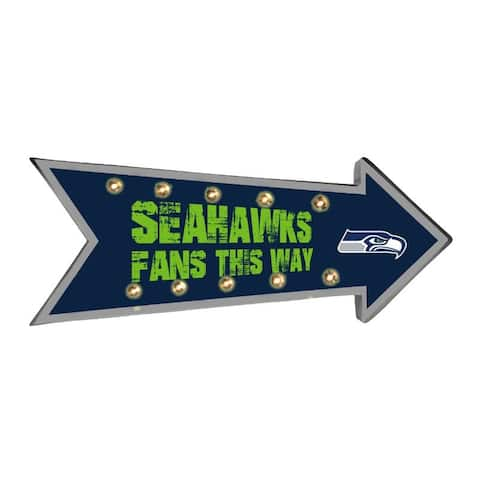 Seattle Seahawks Sign Running Light Marquee