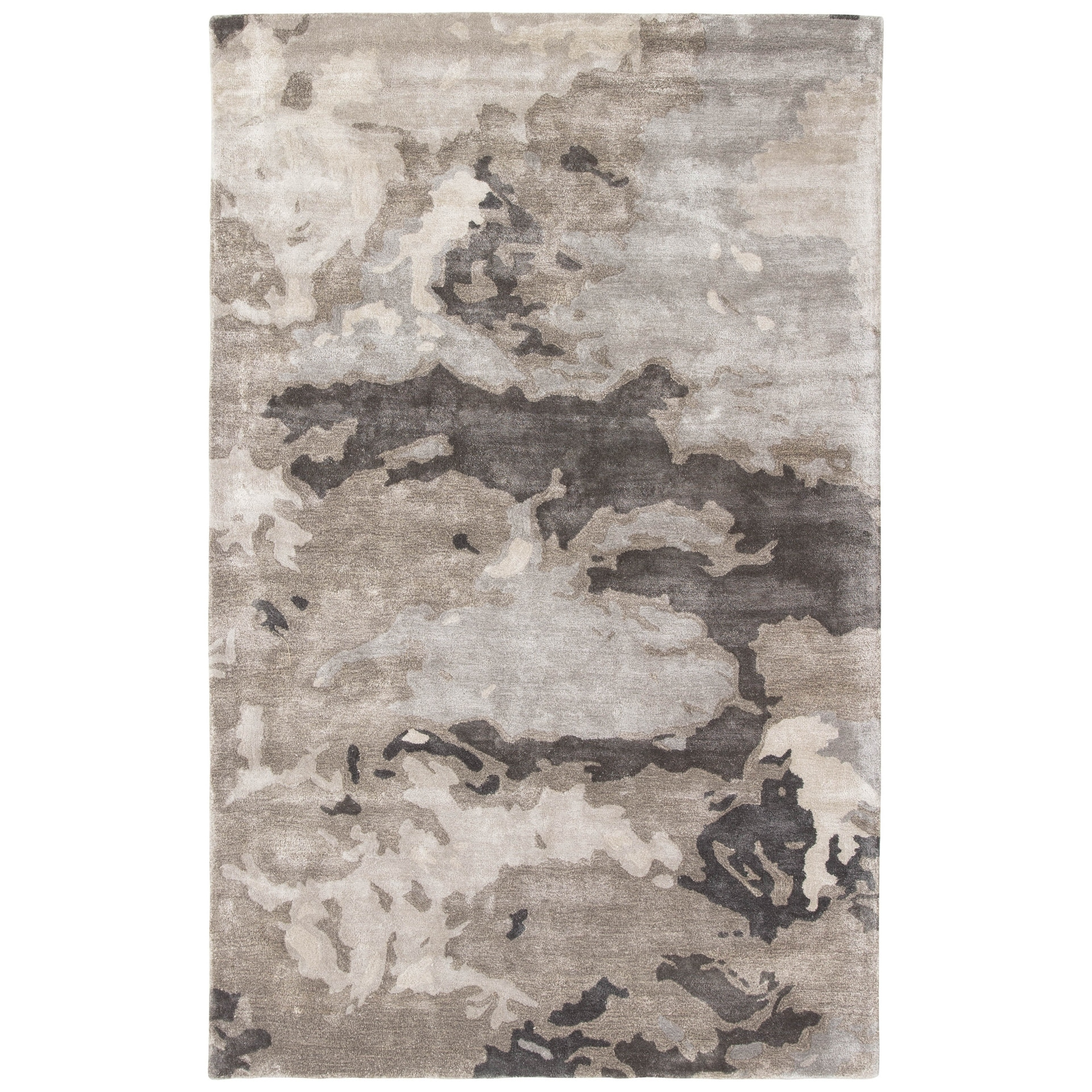 Mudra Handmade Abstract Grey Silver Area Rug Overstock 11110740