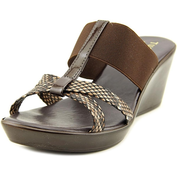 Easy Street Ascea Women W Open Toe Canvas  Wedge Sandal