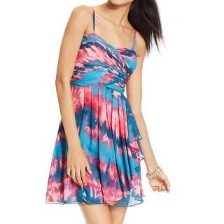 Hailey Logan Womens Juniors Party Dress Chiffon Pleated