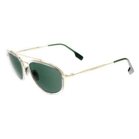 e346d7a310ad Burberry BE3106 11097156 Light Gold/Green Aviator Sunglasses - 56-19-145