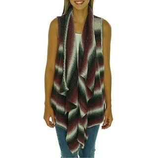 G.H. Bass Co. Printed Draped Sleeveless Sweater Vest - L