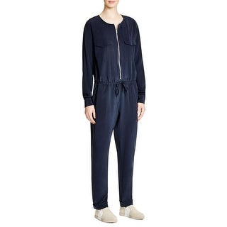 Pure DKNY Womens Jumpsuit Silk Zip Front