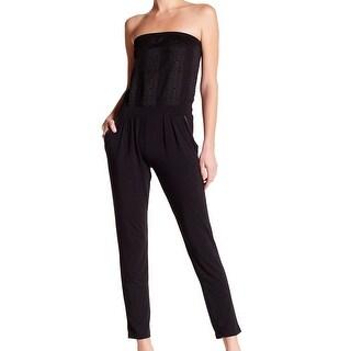 TART NEW Black Strapless Animal Print Women's Size Small S Jumpsuit