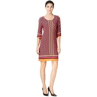 Calvin Klein Geometric Print Jersey Bell Sleeve Dress - 2