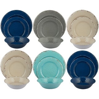 Link to Melange 18-Piece Melamine Dinnerware Set (Rustic Collection ) Similar Items in Dinnerware