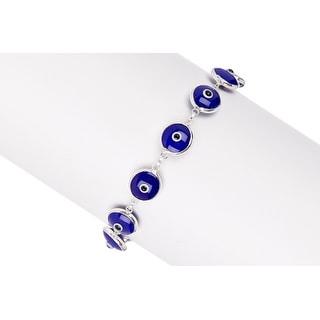 Link to Pori Jewelers Sterling Silver Blue Evil Eye Bracelet Similar Items in Bracelets