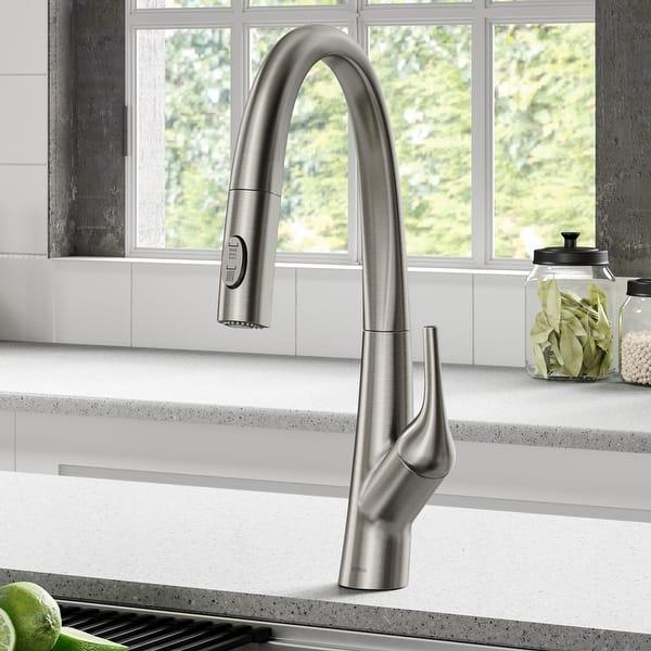 Kraus Kpf 2523 Arqo M 1 Hole 1 Handle Pulldown Kitchen Faucet Overstock 30926025