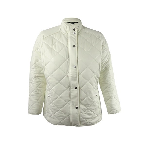 0e6edf0f49b Shop Lauren Ralph Lauren Women s Plus Size Long Sleeve Jacket - herbal milk  - 1x - Free Shipping Today - Overstock.com - 21421042