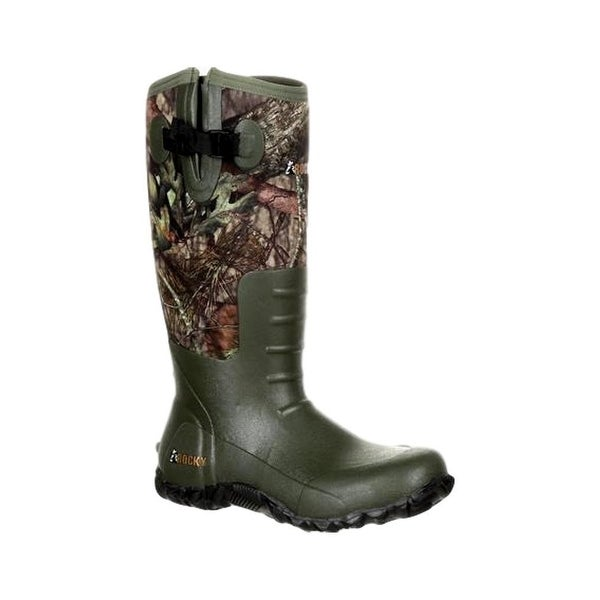 Rocky Outdoor Boot Mens Rubber Camo Mossy Oak Break Up Country